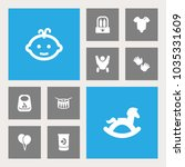 set of 10 child icons set.... | Shutterstock . vector #1035331609