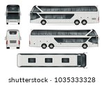 bus vector mock up. isolated... | Shutterstock .eps vector #1035333328