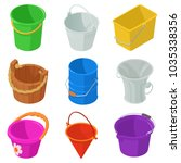 bucket types container icons...   Shutterstock .eps vector #1035338356