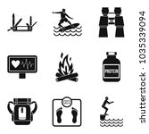 health status icons set. simple ...   Shutterstock .eps vector #1035339094