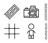 icons camera with old film... | Shutterstock .eps vector #1035340300