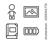 icons camera with cameraman ... | Shutterstock .eps vector #1035341770