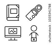 icons camera with photo album ... | Shutterstock .eps vector #1035341788
