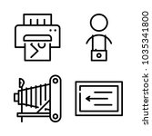 icons camera with printing... | Shutterstock .eps vector #1035341800