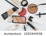 cosmetick make up object | Shutterstock . vector #1035344938