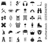 outfit icons set. simple set of ... | Shutterstock .eps vector #1035346900