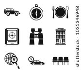 expedition icons set. simple...   Shutterstock .eps vector #1035346948