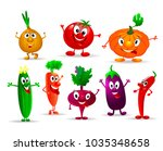 collection of various fun and... | Shutterstock .eps vector #1035348658