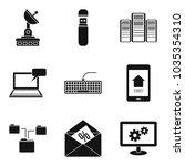 telecom icons set. simple set... | Shutterstock .eps vector #1035354310