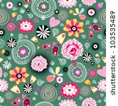 flower texture | Shutterstock .eps vector #103535489