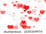 red and pink heart. valentine's ... | Shutterstock . vector #1035359974