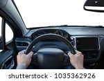 wider view from the driver's...   Shutterstock . vector #1035362926