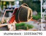 traditional hat decorated with... | Shutterstock . vector #1035366790