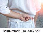 april fools' day concept.close... | Shutterstock . vector #1035367720