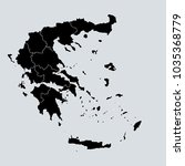 black map of greece | Shutterstock .eps vector #1035368779