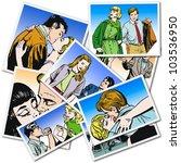 vintage illustration  couple of ...   Shutterstock . vector #103536950