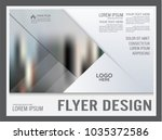 geometric flyer design template.... | Shutterstock .eps vector #1035372586
