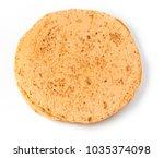 plain tortilla wrap isolated on ... | Shutterstock . vector #1035374098