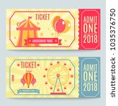 amusement park tickets... | Shutterstock .eps vector #1035376750