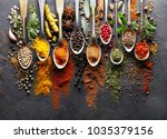 spices on black board   Shutterstock . vector #1035379156