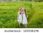 two adorable girl in white... | Shutterstock . vector #103538198