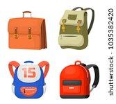 back to school kids backpack... | Shutterstock .eps vector #1035382420