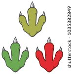 dinosaur footprint design... | Shutterstock . vector #1035382849