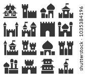 castle icon set   Shutterstock . vector #1035384196
