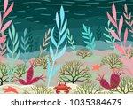 underwater nature background... | Shutterstock .eps vector #1035384679
