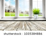 table background in kitchen and ... | Shutterstock . vector #1035384886