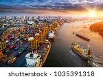 logistics and transportation of ...   Shutterstock . vector #1035391318