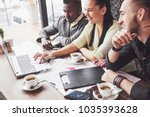 multi ethnic people... | Shutterstock . vector #1035393628