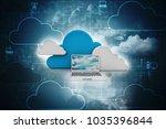 3d rendering cloud computing   Shutterstock . vector #1035396844