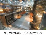 commercial bread oven with... | Shutterstock . vector #1035399109