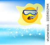 sun and snorkel for diving in...   Shutterstock .eps vector #1035401944
