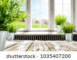 blurred background of window... | Shutterstock . vector #1035407200