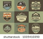 set of vintage hand drawn... | Shutterstock .eps vector #1035410350