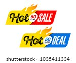 hot sale and hot deal banners ... | Shutterstock .eps vector #1035411334