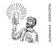 vintage vector hand drawing of...   Shutterstock .eps vector #1035412996
