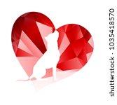 love dogs vector illustration... | Shutterstock .eps vector #1035418570