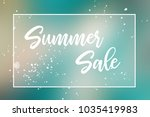 summer sale promotion label or... | Shutterstock . vector #1035419983