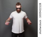 hipster handsome male model... | Shutterstock . vector #1035422128