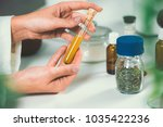 homeopathy lab. homeopath... | Shutterstock . vector #1035422236