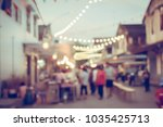 vintage tone blurred defocused... | Shutterstock . vector #1035425713