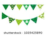 green color bunting   st.... | Shutterstock .eps vector #1035425890