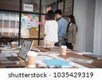 creative business people... | Shutterstock . vector #1035429319