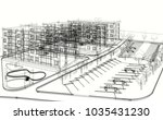 apartment building 3d... | Shutterstock . vector #1035431230