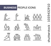 business people icons set... | Shutterstock .eps vector #1035432910