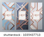 design templates for flyers ... | Shutterstock .eps vector #1035437713