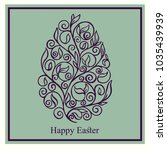 greeting card  easter greeting... | Shutterstock .eps vector #1035439939